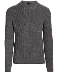 Saks Fifth Avenue Collection Purl Stitch Wool Sweater - Gray