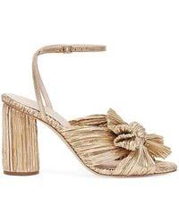 Loeffler Randall Camellia Knotted Lam Sandals - Metallic