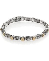 Konstantino - Hermione 18k Yellow Gold & Sterling Silver Etched Bracelet - Lyst