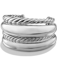David Yurman Pure Form Four-row Bracelet In Sterling Silver - Metallic