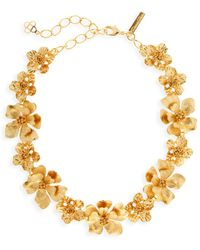 Oscar de la Renta Classic Goldtone Flower Necklace - Metallic