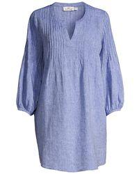 Vineyard Vines St Barths Pintuck Linen Cover-up - Blue