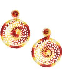 All Things Mochi - Dreamy Crochet Earrings - Orange - Lyst