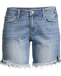 Joe's Jeans - Bermuda Distressed Denim Shorts - Lyst