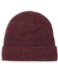 Bickley + Mitchell Faux Sherpa-lined Thermal Cuff Beanie - Purple