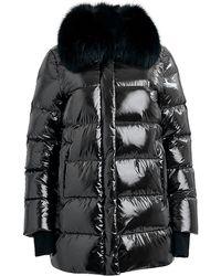 Dawn Levy Vanessa Fox Fur Puffer Coat - Black