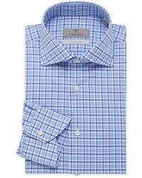 Canali Multi-check Modern-fit Dress Shirt - Blue