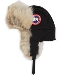 Canada Goose Aviator Fur Hat - Black