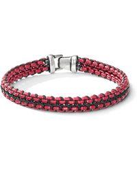David Yurman - Woven Box Chain Bracelet In Burgundy - Lyst
