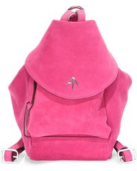 MANU Atelier - Mini Fernweh Suede Backpack - Lyst