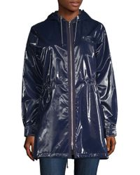 Jane Post - London Shiny Metallic Parka - Lyst