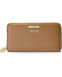 Gigi New York - Large Leather Zip Wallet - Lyst