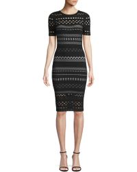 MILLY - Sheath Dress With Lace Cutouts - Lyst