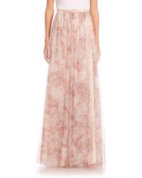 Jenny Yoo - Arabella Printed Tulle Maxi Skirt - Lyst