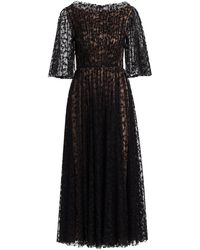 Jason Wu Floral Illusion Tulle Flutter-sleeve Cocktail Dress - Black