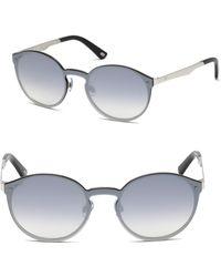 Web - 134mm Round Metal Mirror Sunglasses - Lyst