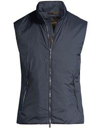Moorer Lightweight Zip Vest - Multicolor