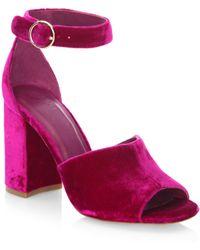 Joie - Lahoma Velvet Sandals - Lyst