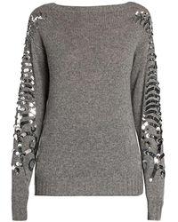 Prada - Sequin Detail Cashmere Sweater - Lyst