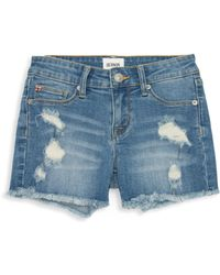 Hudson Jeans - Little Girl's & Girl's Ava Distressed Fray Shorts - Lyst