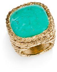 Aurelie Bidermann - Miki Ring With Turquoise - Lyst