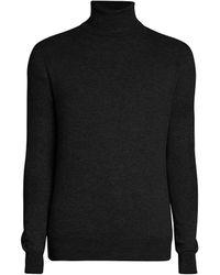 Amiri Wool & Cashmere Turtleneck Sweater - Black