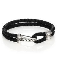 John Hardy - Classic Chain Hook-station Bracelet, Black - Lyst