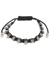 Alexander McQueen - Skull Leather Friendship Bracelet - Lyst