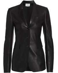 Akris Punto Perforated Leather Blazer - Black