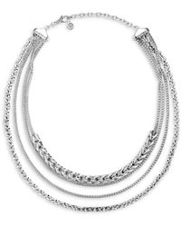John Hardy Sterling Silver Classic Chain Multi - Row Necklace - Metallic