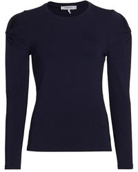 FRAME Twisted Long-sleeve Top - Blue