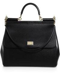 Dolce & Gabbana - Large Sicily Leather Top Handle Satchel - Lyst