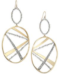 Alexis Bittar - Elements Plaid Crystal & 10k Yellow Gold Drop Earrings - Lyst