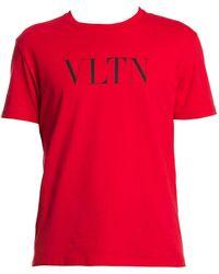 Valentino Logo T-shirt - Red