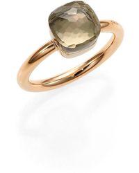 Pomellato - Nudo 18k Rose Gold & Prasiolite Petite Square Ring - Lyst