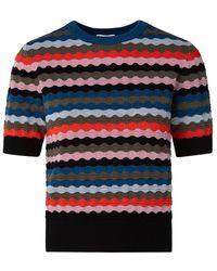 Akris Punto Scottish Highlands Knit Top - Multicolor