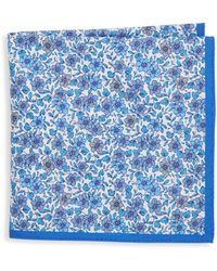Ike Behar - Silk Floral Pocket Square - Lyst