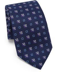 Saks Fifth Avenue - Square Print Silk Tie - Lyst