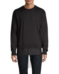 Diesel Black Gold - Combo Crewneck Sweater - Lyst