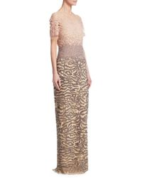 Pamella Roland - Ombre Sequin Gown - Lyst