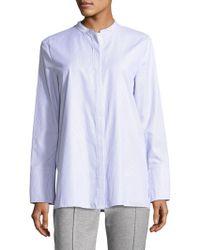 ESCADA - Long-sleeve Striped Poplin Shirt - Lyst