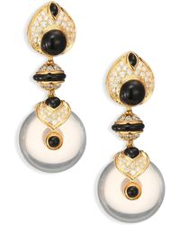 Marina B - Women's Pneu Diamond, Black Jade & 18k Yellow Gold Drop Earrings - Gold Jade - Lyst