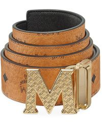 MCM Claus Reversible Logo Engraved Belt - Multicolor