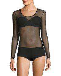 Cosabella - Soire Long-sleeve Thong Back Bodysuit - Lyst