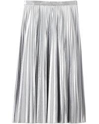 Tibi Metallic Pleated Skirt