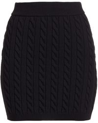 T By Alexander Wang Cable Knit Mini Skirt - Black