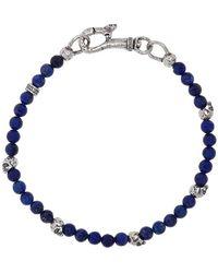 John Varvatos Mercer Sterling Silver & Lapis Bracelet - Metallic