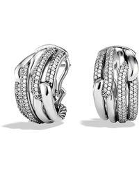 David Yurman - Labyrinth Double-loop Earrings With Diamonds - Lyst