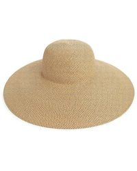 Eric Javits Woven Floppy Sun Hat - Brown