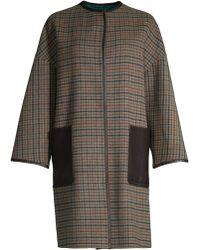 Weekend by Maxmara - Pareo Plaid Virgin-wool Blend Overcoat - Lyst